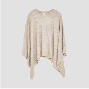 Zara NWT beige top